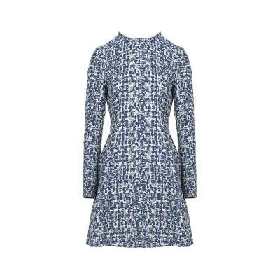 slim line patterned dress multi